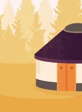 Hunkering down in a yurt